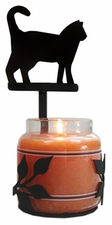 Wall Sconce, Candle Jar Holder, Cat, Wrought Iron