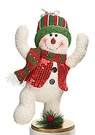 Christmas Decoration, Dancing Snowman with Knit Cap