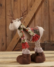Christmas Decoration, Reindeer, Sweater, Green Scarf, Snow Lodge