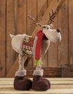 Christmas Decoration, Reindeer, Sweater, Red Scarf, Snow Lodge
