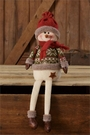 Christmas Decoration, Snowman Shelf Sitter, Sweater, Hat and Boots