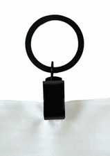 Curtain Rings, Clip, Wrought Iron