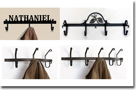 Coat Racks Hooks Wrought Iron Wall Mounted