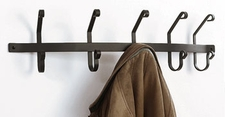 COAT RACKS,  HOOKS, WROUGHT IRON, WALL MOUNTED