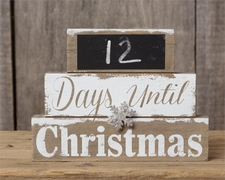 Countdown Christmas Calendar with Silvertone Snowflake & Chalkboard