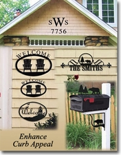 CURB APPEAL - Welcome Signs, House Plaques, Numbers, Letters