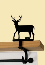 Curtain Shelf Brackets, Deer, Wrought Iron