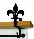 Curtain Shelf Brackets, Fleur De Lis, Wrought Iron