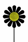Lawn / Garden Stake, Daisy, Flower, Wrought Iron, Color Lens