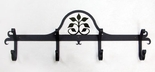 COAT RACKS / HOOKS, WROUGHT IRON, DECORATIVE SILHOUETTE