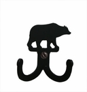 Double Wall Hook, Bear, Wrought Iron