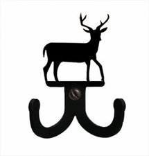 Double Wall Hook, Deer, Wrought Iron