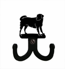 Double Wall Hook, Labrador, Dog, Wrought Iron