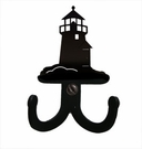 Double Wall Hook, Lighthouse, Wrought Iron