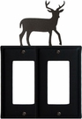 Double GFI Cover, Deer, Wrought Iron
