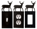 OUTLET, GFI, SWITCH COVERS, DEER, WROUGHT IRON