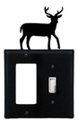 GFI and Switch Cover, Deer, Wrought Iron