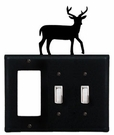 GFI and Double Switch Cover, Deer, Wrought Iron