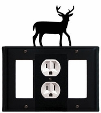 GFI, Outlet and GFI Cover, Deer, Wrought Iron