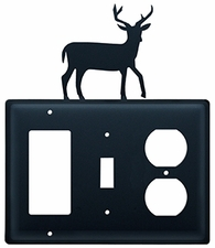 GFI, Switch and Outlet Cover, Deer, Wrought Iron