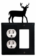 Outlet and GFI Cover, Deer, Wrought Iron