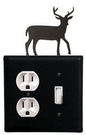Outlet and Switch Cover, Deer, Wrought Iron