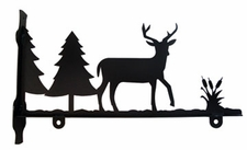 Sign Bracket, Deer, Wrought Iron, 24 Inch