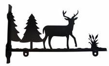 Sign Bracket, Deer, Wrought Iron, 18 Inch