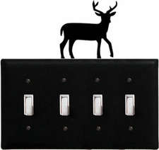 Quad Switch Cover, Deer, Wrought Iron