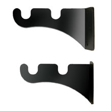 Curtain Brackets, Double, Wrought Iron, Set of 2