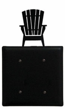 Double Electrical Cover, Adirondack Chair, Wrought Iron