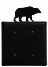 Double Electrical Cover, Bear, Wrought Iron