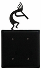 Double Electrical Cover, Kokopelli, Wrought Iron