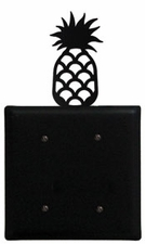 Double Electrical Cover, Pineapple, Wrought Iron