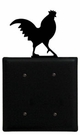 Double Electrical Cover, Rooster, Wrought Iron