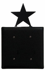 Double Electrical Cover, Star, Wrought Iron