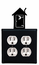Double Outlet Cover, Outhouse, Wrought Iron
