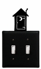 Double Switch Cover, Outhouse, Wrought Iron