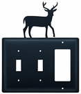 Double Switch & GFI Cover, Deer, Wrought Iron