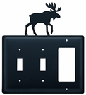 Double Switch & GFI Cover, Moose, Wrought Iron