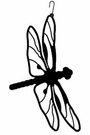 Dragonfly Silhouette, Hanging Art, Wrought Iron