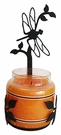 Wall Sconce, Candle Jar Holder, Dragonfly, Wrought Iron