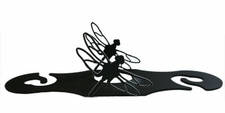 Wine for Two, Wine Glass Holder, Dragonfly, Wrought Iron