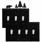 OUTLET, GFI, SWITCH COVERS, BEAR & PINE TREES, WROUGHT IRON