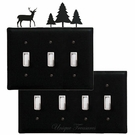 OUTLET, GFI, SWITCH COVERS, DEER & PINE TREES, WROUGHT IRON
