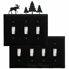 OUTLET, GFI, SWITCH COVERS, MOOSE & PINE TREES, WROUGHT IRON