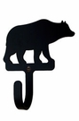 Wall Hook, Bear, Wrought Iron, Extra Small, Decorative