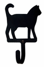 Wall Hook, Cat, Wrought Iron, Extra Small, Decorative