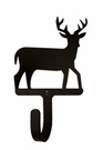 Wall Hook, Deer, Wrought Iron, Extra Small, Decorative