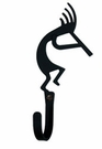 Wall Hook, Kokopelli, Wrought Iron, Extra Small, Decorative